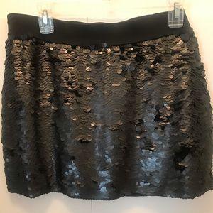 Black sequins BCBG mini skirt
